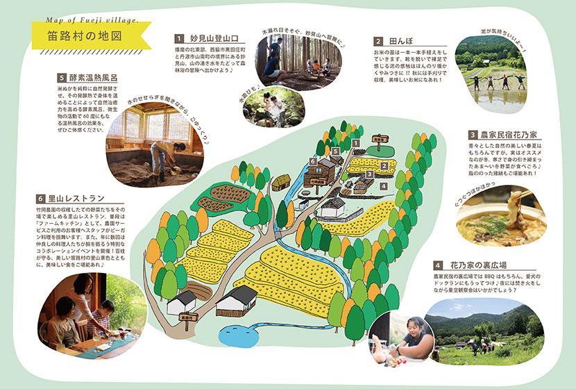 竹岡農園の地図